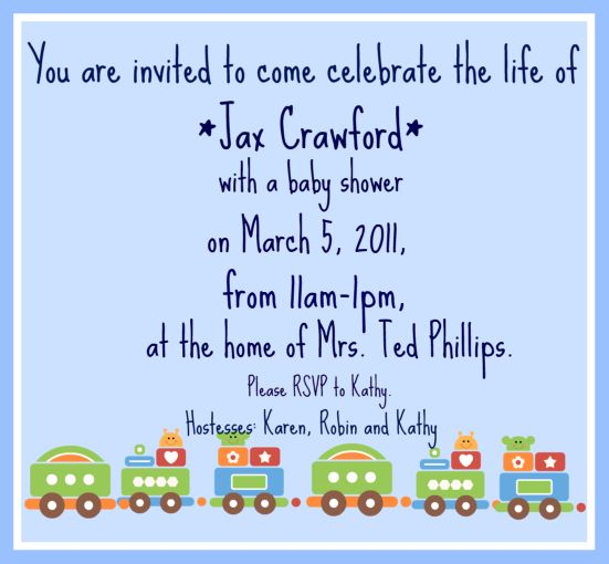 Baby Shower - Jax Crawford
